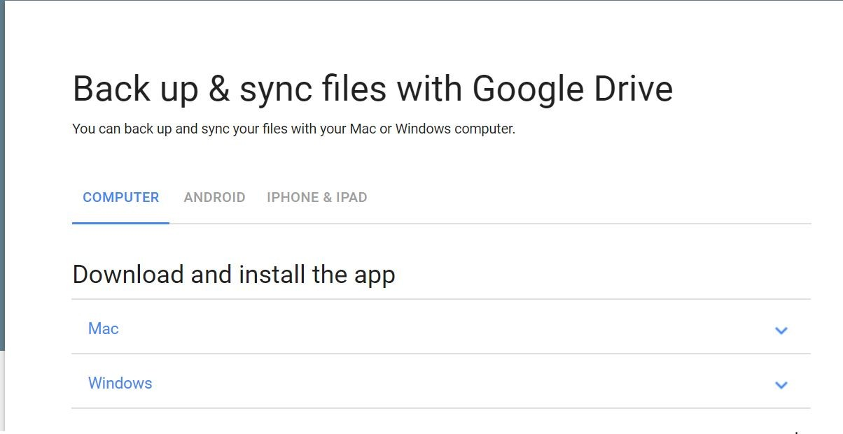 Backup and sync files